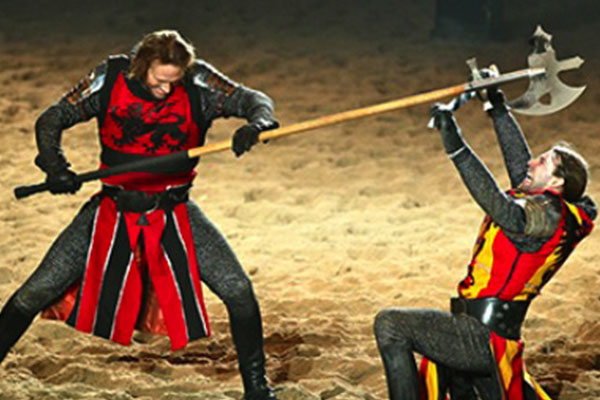 A trip to Medieval Times to watch an 11th century jousting match