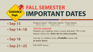 Fall dates 2015