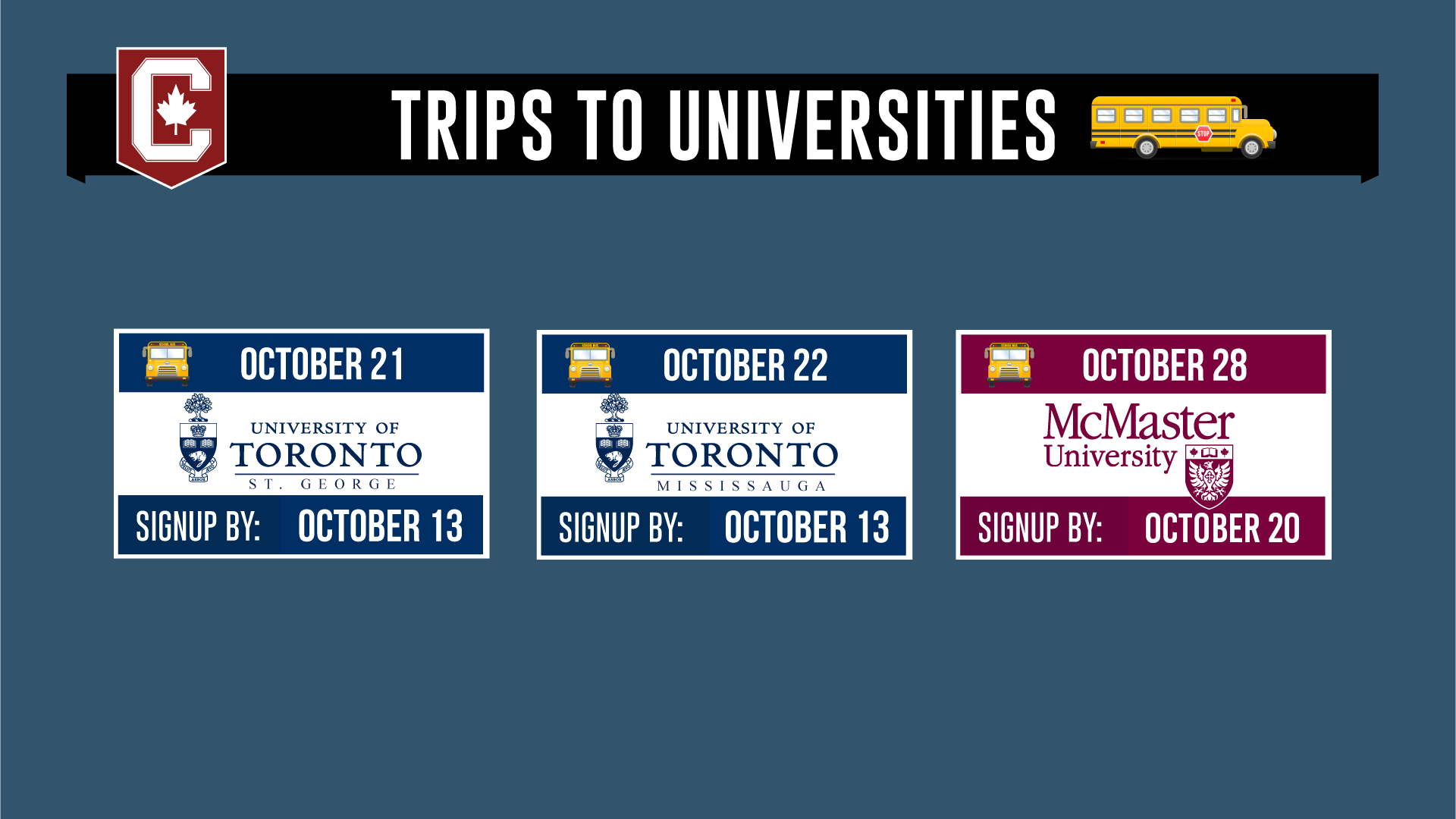 University Tours for Students!